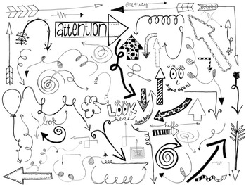 Arrow Doodles - Clipart Pack