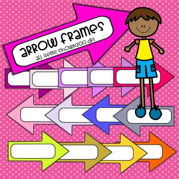 Arrow Frames/Banners - 14 total - clip art