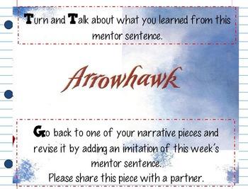 Arrow Hawk Interactive Mentor Sentence Teaching PowerPoint
