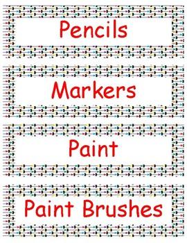 Arrow Label for Classroom