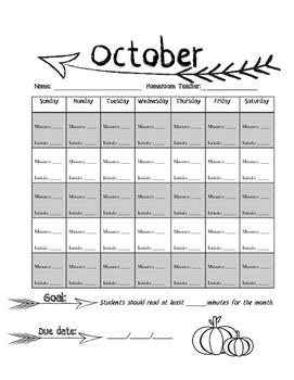 Arrow Monthly Reading Logs