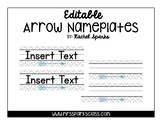 Editable Arrow Name Plates