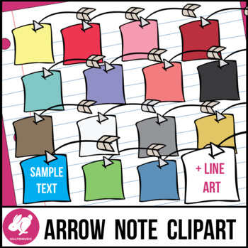 Arrow Notes Clip Art