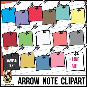 Arrow Notes Clip Art