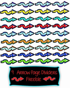 Arrow Page Dividers Freebie