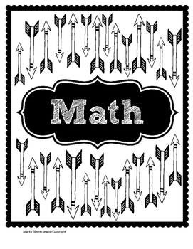 Arrow Pattern Teacher Binder Labels