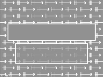 Arrow Pattern in Grey PowerPoint Template