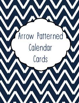Arrow Patterned Calendar Cards