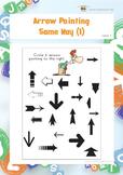 Arrow Pointing Same Way 1 (Visual Perception Worksheets)