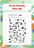 Arrow Pointing Same Way 2 (Visual Perception Worksheets)