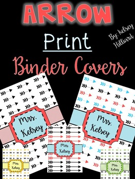 Arrow Printable Binder Covers (All different types) Can be Edited