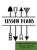 Arrow Teacher Notebook Pages