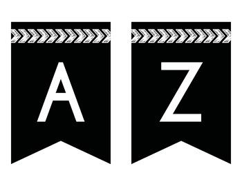 Arrow Theme Bulletin Board Banner (Black & White)