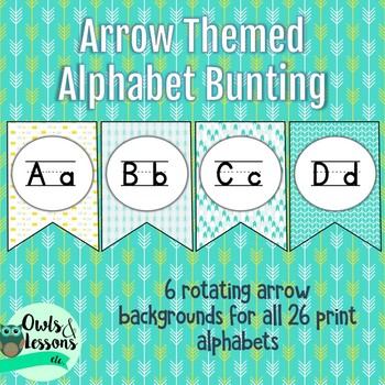 Arrow Themed Alphabet Bunting Posters
