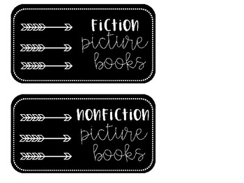 Arrow Themed Library Labels