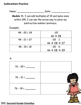 Arrow Way Practice Workpage Addition and Subtraction-MODULE 4 Grade 2