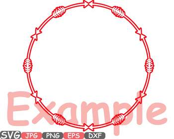 Arrow and Chain Circle Frame clipart svg love Bogo tribal Frames Valentine -654s