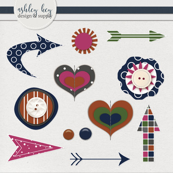 Arrow and Embellishments Clipart- Jewel Tone Collection