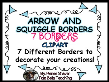 Arrow and Squiggle Borders Clip Art