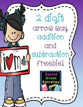Addition and Subtraction ARROW WAY practice worksheet FREEBIE