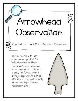 Arrowhead Artifact Observation and Analysis Sheet