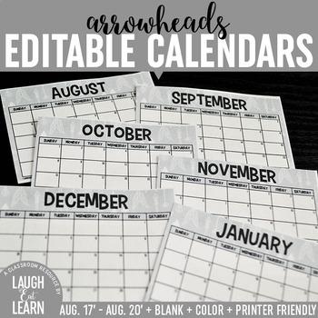 Editable Calendars {Arrows}
