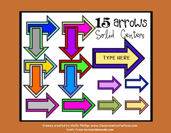Arrows Clip Art {Commercial Use}