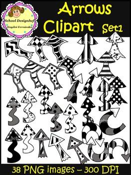 Arrows Clip Art - Set1 (School Designhcf)