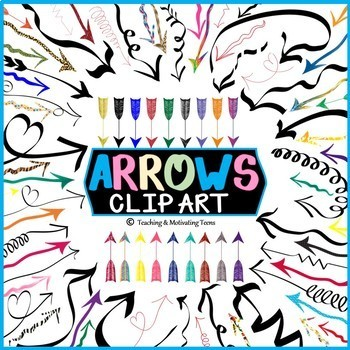 Arrows Clip Art with Transparent Backgrounds, Commercial Use Okay