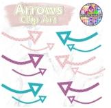 Curved polka dot arrow clip art