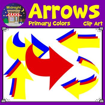 Arrows Clip Art - Primary Colors