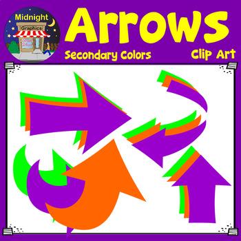 Arrows Clip Art - Secondary Colors