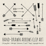 Arrows Clip Art Set, Hand Drawn Arrows, Doodle Arrows for