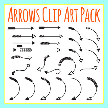 Arrows Clip Art Set for Commercial Use