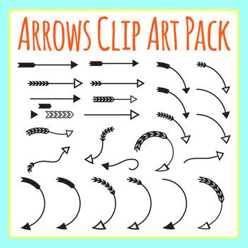 Arrows Clip Art Set for Commercial Use