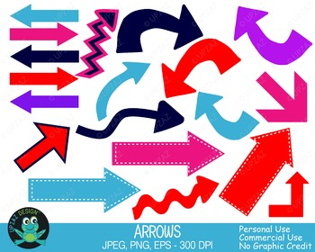 Arrows Pack (Upzaz Digital Clipart)