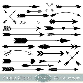 Arrows Clipart Black Arrows Clip Art Tribal Scrapbooking Aztec Native American