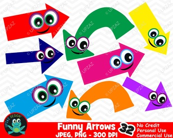 Arrows with Funny Eyes {Upzaz Digital Clipart}