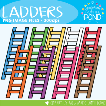 Ladders - Clipart for Teaching Files