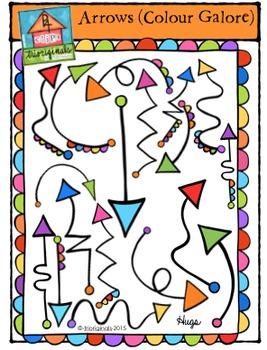 Arrows Colour Galore (P4 Clips Trioriginals Digital Clip Art)