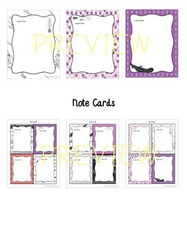 Arrows & Feathers Themed EDITABLE Stationery with Matching Note Cards