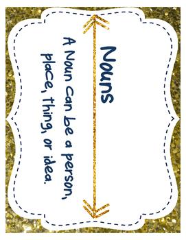 Arrows & Glitter Find It Noun Center