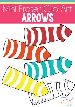 Arrows Mini Eraser Clip Art