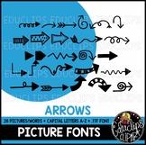 Arrows Picture Font {Educlips Clipart}