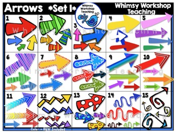 Arrows SET 1 Clip Art - Whimsy Workshop Teaching