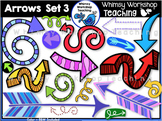 Arrows SET 3 Clip Art - Whimsy Workshop Teaching