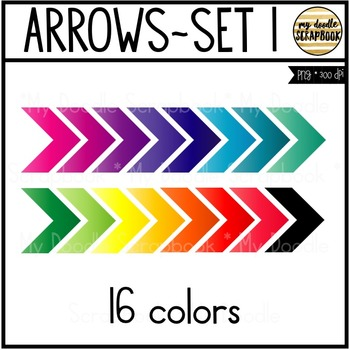 Arrows Set 1 (Clip Art for Personal & Commercial Use)