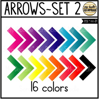 Arrows Set 2 (Clip Art for Personal & Commercial Use)