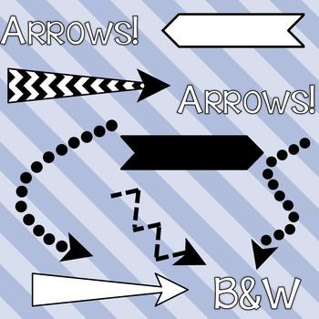 Crazy Arrows Set of 20 - B&W