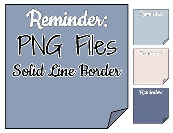 Arrows & Sticky Notes Clip Art - Sky Palette - Use with Digital Resources!